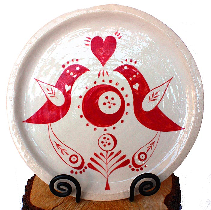 red heart plate website